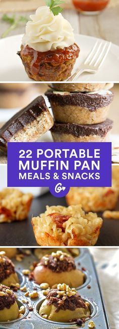 All muffins, all the time. That's our new rallying cry, especially now that weve discovered muffins can be healthy  #muffins #recipes #healthy http://greatist.com/eat/portable-muffin-tin-recipes