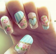 These nails are super ADORABLE! :)