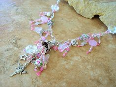 Boho Pale Pink Fairytale Necklace Storybook Garden by BohoStyleMe
