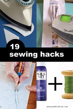 Get these great sewing tricks and hacks to make your sewing faster.  Down with dull scissors!