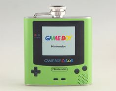 Gameboy Green Color Liquor Hip Flask Stainless Steel 6 by Rockyart, $16.99