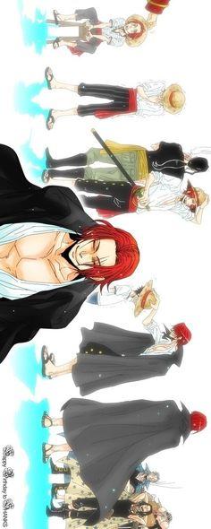 One Piece- Shanks http://www.modishgeek.com/tag/anime/ Mehr