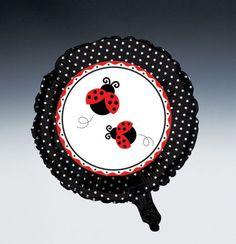 Ladybug Metallic Party Balloons
