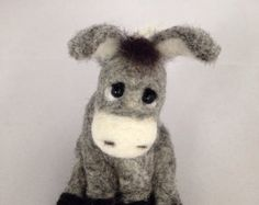 Needle Felted toy Bunny I'm the best Soft Sculpture by katuasha