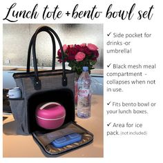 Cold Lunches, Prepped Lunches, Cold Lunch Ideas For Work, Can Of Soup, Easy Lunch Boxes, Lunch Tote Bag, Perfect Portions, Travel Snacks, Lunch Specials