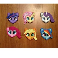 My Little Pony characters perler beads by  lefemmebelle