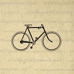 Digital Printable Bicycle Image Bike by VintageRetroAntique