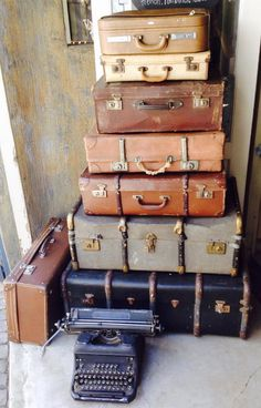 Moi Decor- rental company in SA... Vintage suitcases stacked up make a statement