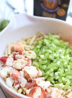 New England Lobster Pasta Salad  #scenesofnewengland #soNE #food #soNEfood