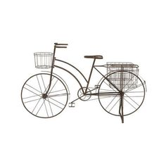 Dot & Bo Bicycle Garden Wizard ($200) ❤ liked on Polyvore featuring home, outdoors, outdoor decor, decor, outside planters, garden decor, outdoor metal decor, succulent planter and antique planter