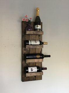 Botellero rústico estante de especia sostenedor de botella