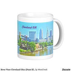 River View Cleveland Ohio (Paint Effect) Mug