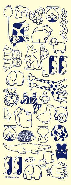 Dick Bruna animals - love the giraffes!