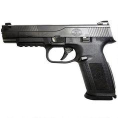 "FNH FNS-9 Long Slide Semi Automatic Pistol 9mm Luger 5"" Barrel 17 Rounds Polymer Grip Black 66725 - 845737004132"