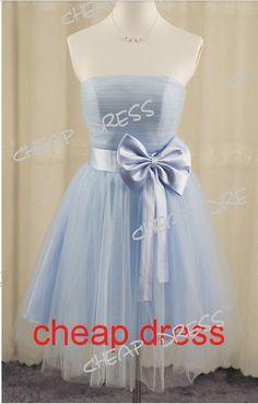 Aline tulle avec robes de bal pas cher courte de Bow, robe courte, robe de soirée formelle, robe de bal sans bretelles, robe de demoiselle d'honneur sur Etsy, $111.70 CAD