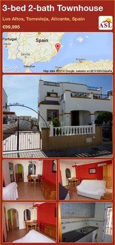 3-bed 2-bath Townhouse in Los Altos, Torrevieja, Alicante, Spain ►€99,995 #PropertyForSaleInSpain