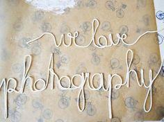 Tutorial fai da te:  Come realizzare una scritta con la corda via DaWanda.com