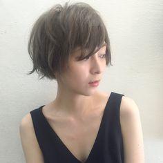 宮永えいとさんのヘアカタログ   大人かわいい,アッシュ,黒髪,ショート,ショートマッシュ   2016.08.12 00.35 - HAIR
