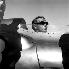 I love this photo of McQueen in his Lotus Eleven.