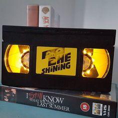 Artisan Rainbow: The Shining VHS Night Light by Nancys Jars