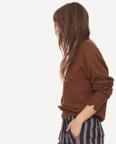 The College Sweatshirt. in Brown by The Great.