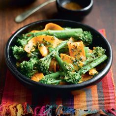 Indian-spiced Warm Broccoli and Carrot Salad Recipe: Cook Vegetarian Magazine