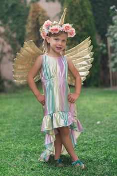One of my favorite things about Halloween is the creativity that comes from making costumes. My kids both chose very simple costumes using things we already had at home but when my best friend's daughter said she wanted to be a unicorn I jumped at the chance to make her a costume.  So grab your supplies and lets get started! #unicorn #horn #costume #accessories #free #pattern #tutorial #cosplay