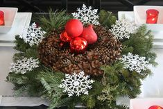 The Yellow Cape Cod: Holiday Home Series: Simple Thrift Store Centerpieces