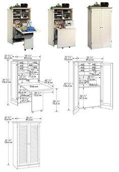 Amazon Com Craft Sewing Machine Cabinet Storage Armoire