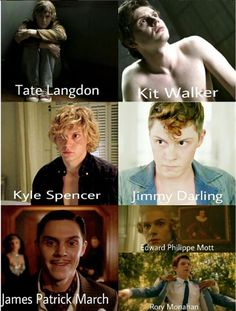 Character Recap. Evan Peters through the AHS Seasons. What will he be playing in AHS 7?