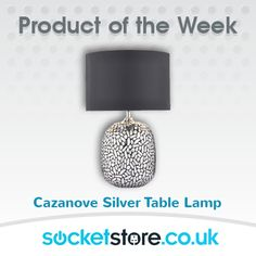 Product of the Week: Cazanove silver table lamp - https://socketstore.co.uk/products/lighting/table-lamps/cazanove-silver-table-lamp #silver #lamp #decor #interior #style #light #table