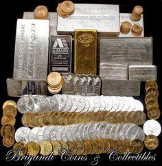 Gold Bullion Bars, Silver Bullion, Bullion Coins, Buy Gold And Silver, Sell Gold, Silver Investing, Gold Reserve, Money Stacks, Gold Money