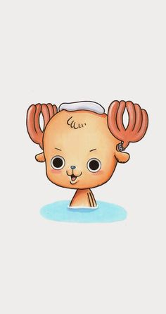 OMG It's rare to see Tony Tony Chopper without it's cap!!! *v*  Tap to see more Tony Tony Chopper Cosplay Wallpapers. One Piece manga/anime wallpapers for iPhone 5/5S, iPhone 6 & 6 Plus #anime #manga #cartoon