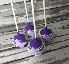 12 Purple Butterfly Cake Pops Birthday Party Favors Sweets Table Candy Buffet Chocolate Wedding Favors Baby Bridal Shower