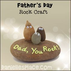 """Dad, You Rocks"" Paper Weight Craft from www.daniellesplace.com"