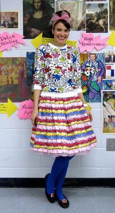 what the art teacher wore