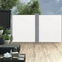 vidaXL Copertină laterală dublă retractabilă, crem, 170 x 600 cm Pergola Patio, Gazebo, Patio Awnings, Patio Privacy, Privacy Screens, Outdoor Garden Furniture, Outdoor Decor, Outdoor Screens, Patio Ideas
