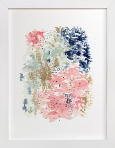 Art inspiration. Reflections Watercolor by Andi Pahl at minted.com