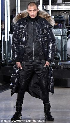 America's hottest felon Jeremy Meeks was spotted walking the runway for designer Philipp Plein at New York Fashion Week on Monday in front of Kylie Jenner, Paris Hilton and Madonna.