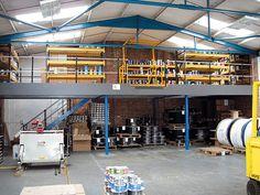 Guidelines for Installing Mezzanine Floors Factory Architecture, Concept Architecture, Visual Management, Metal Shelving, Mezzanine Floor, Warehouse Design, Office Floor, Racking System, Steel Buildings