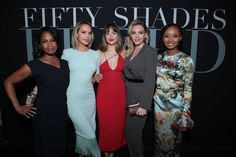 Flawless as always!  Dakota with all lady at the Fifty Shades Brought To Life Pop-Up and Fifty Shades Freed Fan Screening in Los Angeles, California (Feb. 1st) via @50tonsdecinza. Cr. @DakotaJLife