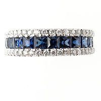 I   want to wear this with my wedding set.  .25 ct. t.w. Diamond and 1.5 ct. t.w. Sapphire Band - Sam's Club