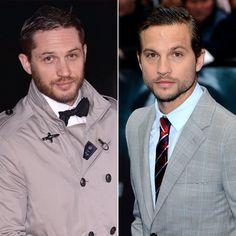 Pin for Later: Ces Célébrités se Ressemblent Comme Deux Gouttes D'eau . . . Mais N'ont Aucun Lien de Parenté Tom Hardy et Logan Marshall-Green Source: Getty / Karwai Tang, Ian Gavan