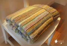 Haaksels: Rich baby blanket