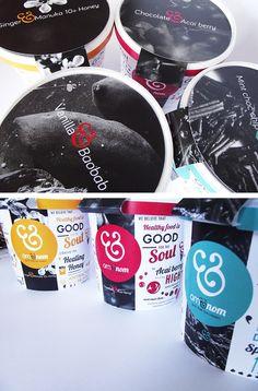 Om&nom Ice Cream brand on Packaging Design Served