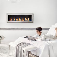 Vector50-LV50 Napoleon Fireplace lets you pick the ember color using your smartphone.