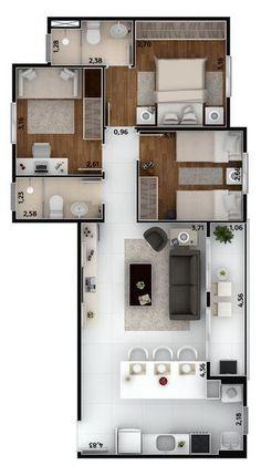 3 Schlafzimmer Hauspläne: siehe 60 moderne Design-Ideen ...