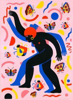 Incantation by French Illustrator Margaux Carpentier is brand new to Print Club London's online gallery! Art And Illustration, Illustration Inspiration, Illustrations Posters, Posca Art, Flat Design, Design Design, Art Studies, Art Plastique, Portrait Art