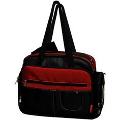 Fisher-Price - Organizer Diaper Bag, Black/Burgundy