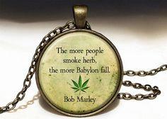 Quote Bob Marley Pendant, 0238PB from EgginEgg by DaWanda.com